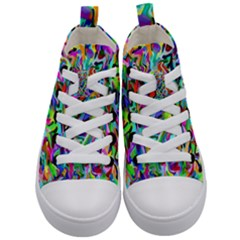 Artwork By Patrick Pattern 9 Kid s Mid Top Canvas Sneakers