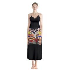 Route 66 Button Up Chiffon Maxi Dress by ArtworkByPatrick