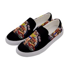 Route 66 Women s Canvas Slip Ons by ArtworkByPatrick