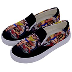 Route 66 Kids  Canvas Slip Ons by ArtworkByPatrick