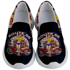 Route 66 Kid s Lightweight Slip Ons by ArtworkByPatrick