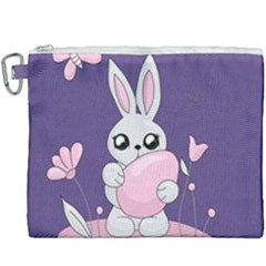 Easter Bunny  Canvas Cosmetic Bag (xxxl) by Valentinaart