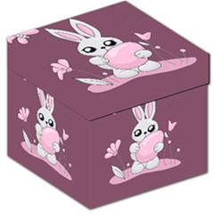 Easter Bunny  Storage Stool 12   by Valentinaart