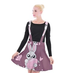 Easter Bunny  Suspender Skater Skirt