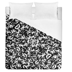 Black And White Abstract Texture Duvet Cover (queen Size) by dflcprints