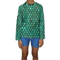 Mermaid Fish Scale Kids  Long Sleeve Swimwear by quinncafe82
