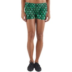 Mermaid Fish Scale Yoga Shorts
