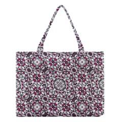 Boho Bold Vibrant Ornate Pattern Medium Tote Bag by dflcprints