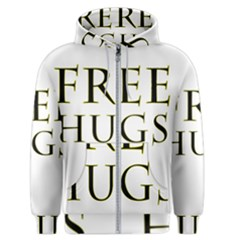 Freehugs Men s Zipper Hoodie by cypryanus