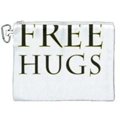 Freehugs Canvas Cosmetic Bag (xxl) by cypryanus