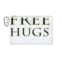 Freehugs Canvas Cosmetic Bag (medium) by cypryanus