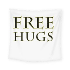 Freehugs Square Tapestry (small) by cypryanus