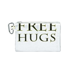 Freehugs Canvas Cosmetic Bag (small) by cypryanus