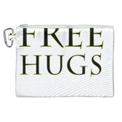 Freehugs Canvas Cosmetic Bag (xl) by cypryanus