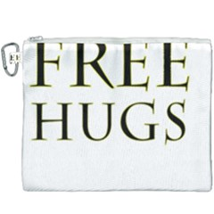 Freehugs Canvas Cosmetic Bag (xxxl) by cypryanus