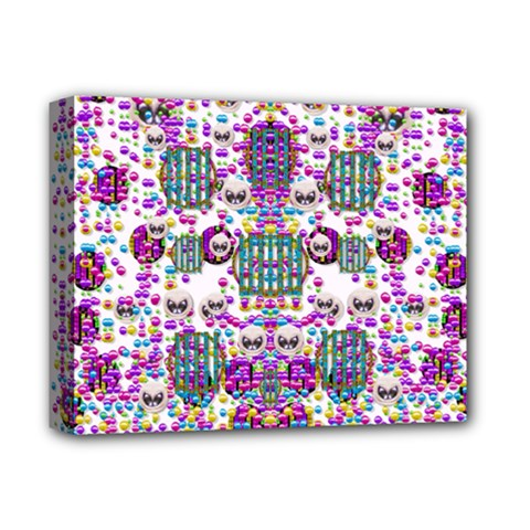 Alien Sweet As Candy Deluxe Canvas 14  X 11  by pepitasart