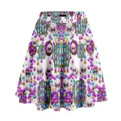 Alien Sweet As Candy High Waist Skirt by pepitasart