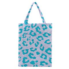 Skin5 White Marble & Turquoise Colored Pencil Classic Tote Bag by trendistuff