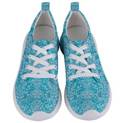 Damask2 White Marble & Turquoise Colored Pencil Women s Lightweight Sports Shoes
