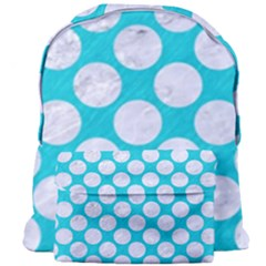 Circles2 White Marble & Turquoise Colored Pencil Giant Full Print Backpack by trendistuff