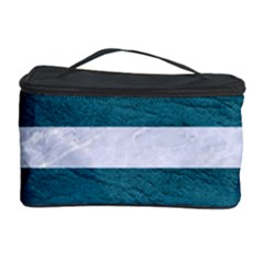 Stripes2white Marble & Teal Leather Cosmetic Storage Case by trendistuff
