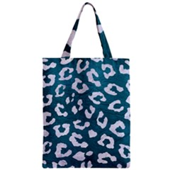 Skin5 White Marble & Teal Leather (r) Zipper Classic Tote Bag by trendistuff
