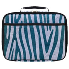Skin4 White Marble & Teal Leather Full Print Lunch Bag