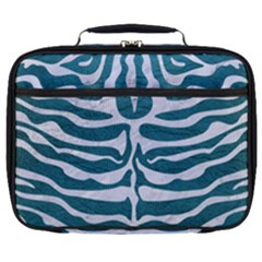 Skin2 White Marble & Teal Leather Full Print Lunch Bag by trendistuff