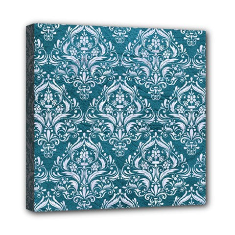 Damask1 White Marble & Teal Leather Multi Function Bag by trendistuff