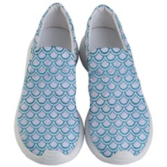 Scales2 White Marble & Teal Brushed Metal (r) Women s Lightweight Slip Ons