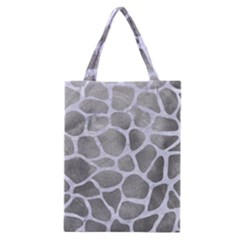 Skin1 White Marble & Silver Paint (r) Classic Tote Bag by trendistuff