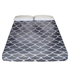 Scales1 White Marble & Silver Paint Fitted Sheet (california King Size) by trendistuff