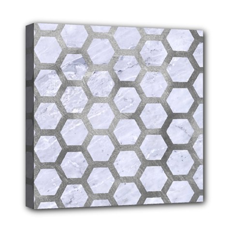 Hexagon2 White Marble & Silver Paint (r) Multi Function Bag	 by trendistuff