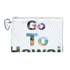 Hawaii Canvas Cosmetic Bag (large) by Howtobead