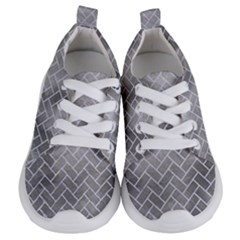 Brick2 White Marble & Silver Paint Kids  Lightweight Sports Shoes