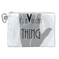 It s A Vulcan Thing Canvas Cosmetic Bag (xl) by Howtobead