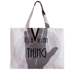 Vulcan Thing Zipper Mini Tote Bag by Howtobead