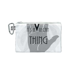 Vulcan Thing Canvas Cosmetic Bag (small) by Howtobead