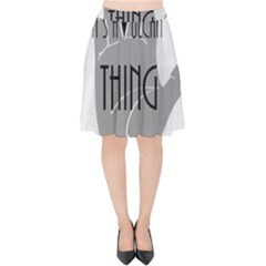 Vulcan Thing Velvet High Waist Skirt by Howtobead