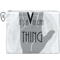 Vulcan Thing Canvas Cosmetic Bag (xxxl) by Howtobead
