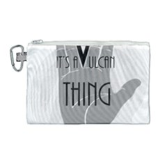 Vulcan Thing Canvas Cosmetic Bag (large) by Howtobead