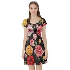Blossoms Short Sleeve Skater Dress