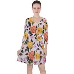 Roses Ruffle Dress