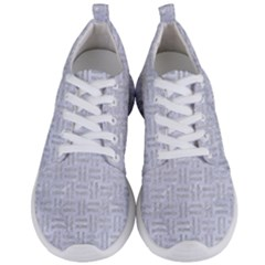 Woven1 White Marble & Silver Glitter (r) Men s Lightweight Sports Shoes