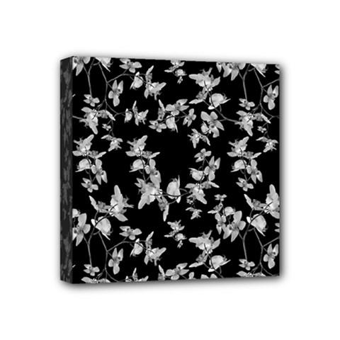 Dark Orquideas Floral Pattern Print Mini Canvas 4  X 4  by dflcprints