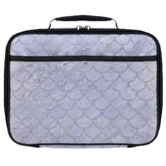 Scales1 White Marble & Silver Glitter (r) Full Print Lunch Bag