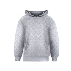 Scales1 White Marble & Silver Glitter Kids  Pullover Hoodie