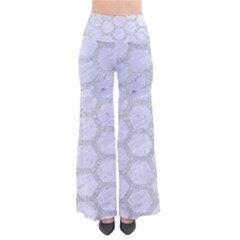 Hexagon2 White Marble & Silver Glitter (r) Pants by trendistuff