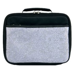 Damask2 White Marble & Silver Glitter Lunch Bag