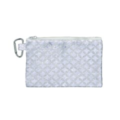 Circles3 White Marble & Silver Glitter (r) Canvas Cosmetic Bag (small) by trendistuff